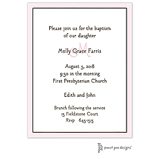 Classic Edge Pink & Chocolate Invitation -
