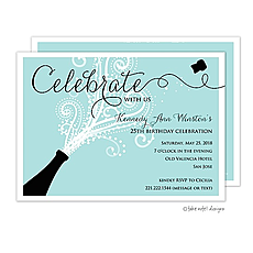 : Celebrate Champagne Blast Invitation