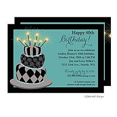 : Birthday Crazy Cake Party Invitation