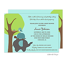 Animal Stack Invitation -