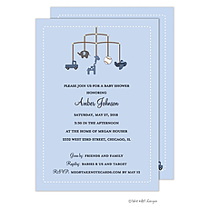 : Boy Theme Mobile Invitation
