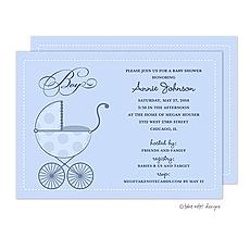 : Polka Carriage Boy Invitation
