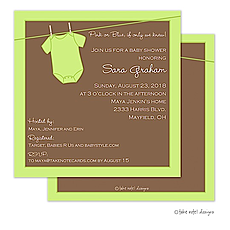 Green Onesie Invitation -