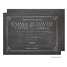 : Chalkboard Chic Invitation