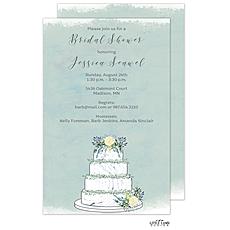 Watercolor Wedding Cake Invitation -