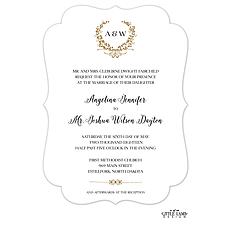 : Gleaming Wreath Foil-Pressed Invitation