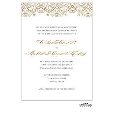 : Gilded Lace Foil-Pressed Invitation