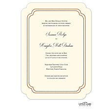 : Shining Double Frame Foil-Pressed Invitation