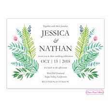greenery wedding invitation: Gorgeous Greenery Wedding Invitation