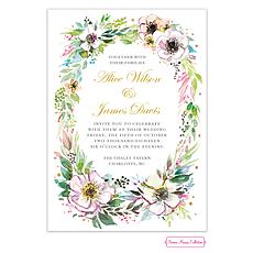 : Rustic Floral Wreath Invitation