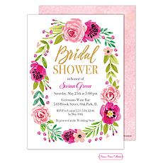 Watercolor Bridal Shower Blossom Invitation -