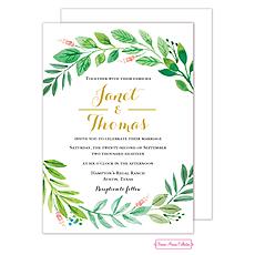 : Foliage of Love Wedding Invitation