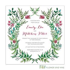 : Ornate Vines Invitation
