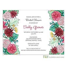 Autum Florals Invitation -