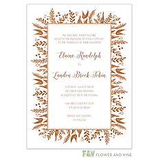 : Foil Foliage Invitation