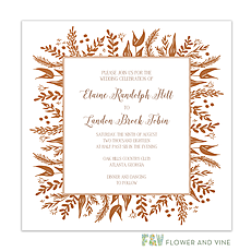 : Foil Foliage Invitation