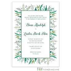 : Watercolor Foliage Invitation