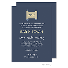 : Torah on Navy Invitation