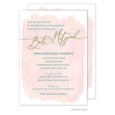 : Blush Wash Bat Mitzvah Invitation