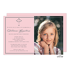 Petite Cross Photo Invitation -