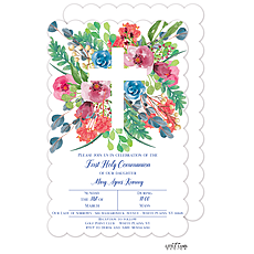 : Garden Cross Invitation