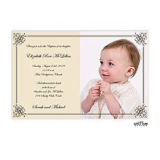Elegant photo invitation -