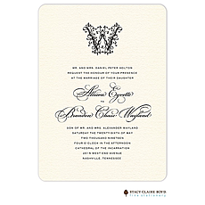 : Ornate Monogram Wedding Invitation