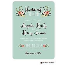 : Botanical Bouquet Wedding Invitation