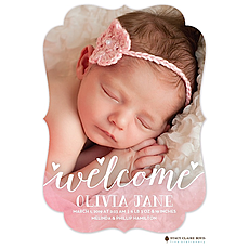 Loving Welcome Photo Birth Announcement -