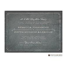 : Vintage Slate Wedding Invitation