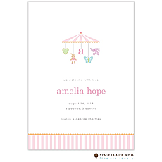 Sweet Dreams Little Girl Birth Announcement -