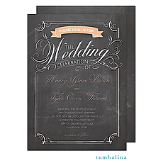: Swirly Chalkboard Invitation