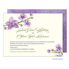 : Elegant Orchids Invitation