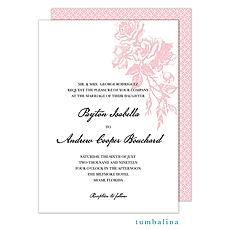 : Vintage Falling Roses Invitation