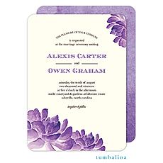 : Cactus Orchids Invitation