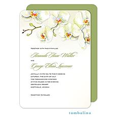 : Watercolor Orchids Invitation