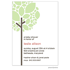Growing Tree Spring Green Invitation -