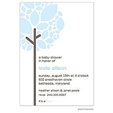 : Growing Tree Baby Blue Invitation