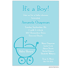 : Baby Buggy Pool Invitation