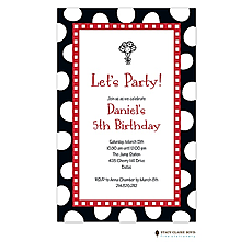 : Jumbo Party Dots - Black Invitation