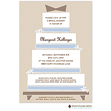 Frosted Wedding Cake Invitation -