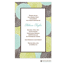 Petal Pushers - Aqua Invitation -