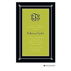 : Simply Framed - Green Invitation