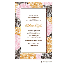 Petal Pushers - Pink Invitation -