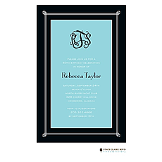 : Simply Framed - Aqua Invitation