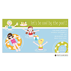 Cool By The Pool Party Invitation -