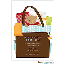 All In The Bag Blue Boy Invitation -
