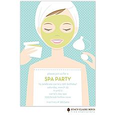 : Spa Girl Party Invitation