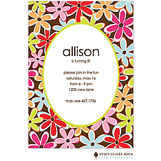 : Flower Wow Party Invitation