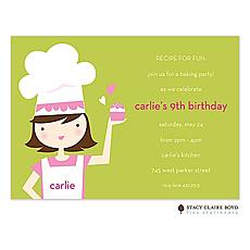 : Little Chef Party Invitation